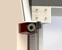 Venkovní rolety: Řez schránky venkovní rolety pro dodatečnou montáž